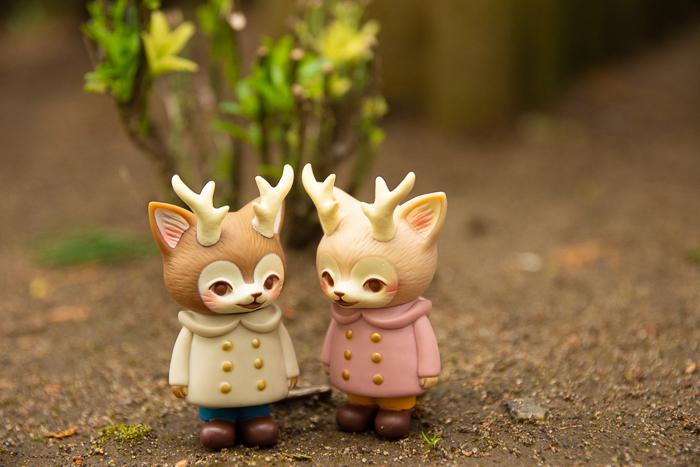ツバキアキラが撮った、VAG・MORRIS、通称・つのねこ。白ちゃんとピンクちゃんが、何かおしゃべりしています。